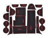 Portavasos para Coche Pude Slot Pad Compatible con Mazda CX-3 CX-7 2006 - 2019 CX3 CX7 Cojín interior de la puerta interior Portadores de la taza de coches Mats antideslizantes Blanco rojo Absorbente