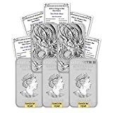 2018 - Present (Random Year) Lot of (5) 1 oz Silver Bars Australia Perth Mint Dragon Series Rectangular Coins Brilliant Uncirculated with Certificates of Authenticity by CoinFolio $1 BU
