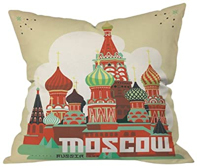 DENY Designs Anderson Design Group Moscow Throw Pillow, 18 by 18 Inch