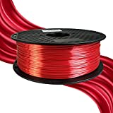 Shiny Silk Red 1.75mm 3D Printer PLA Filament Silk Metallic Red PLA 3D Printer Filament 1.75mm 1KG 2.2LBS Spool Shiny Silky Shine Purple Black Red Copper Printing Material
