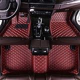 Luomp Custom Car Tapetes de Piso, Coche Impermeable Antideslizante de Cuero de tapetes para Citroën C6 2005-2008, Vino Tinto, Citroen C4 Aircross 2012-2017