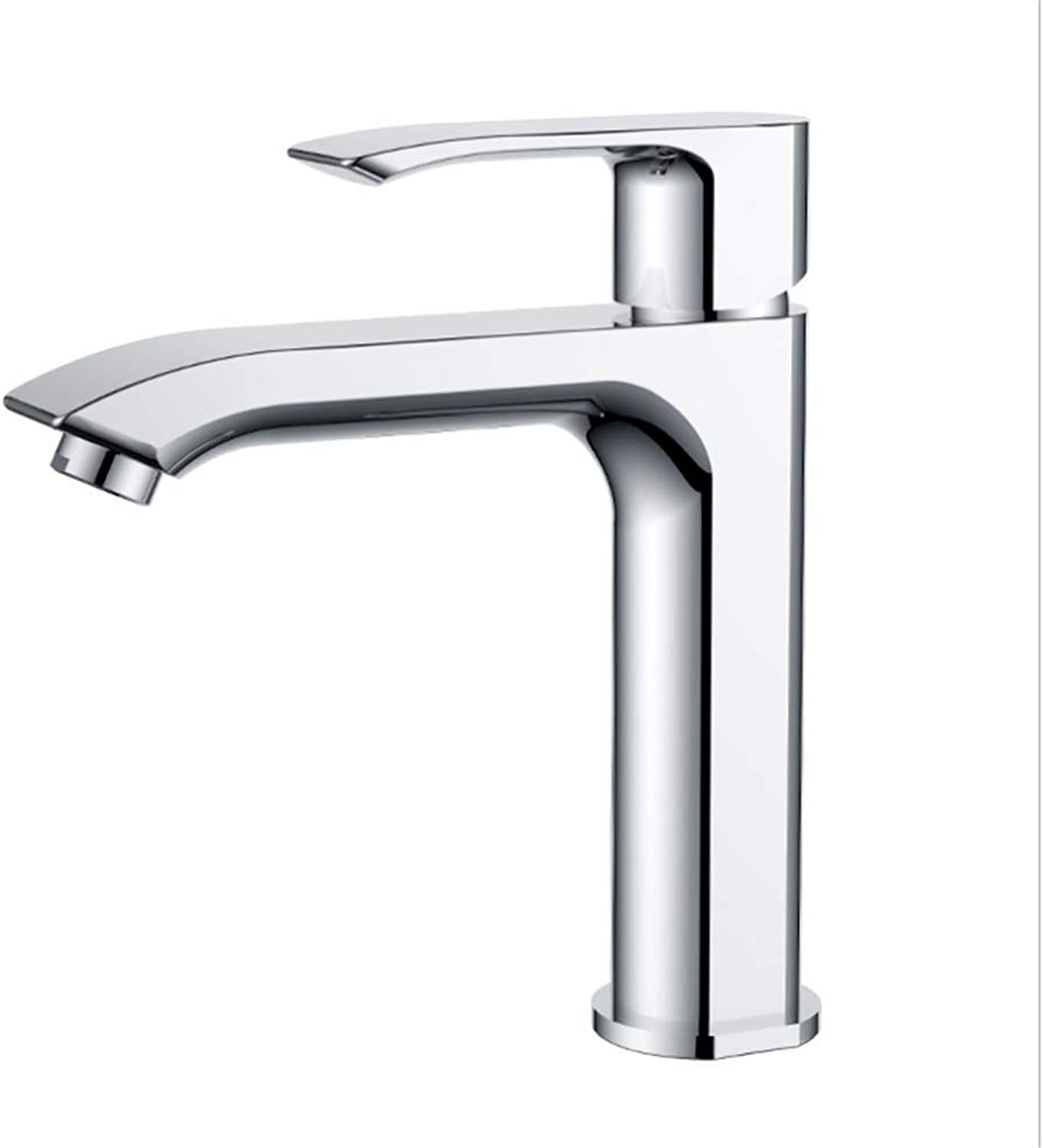 Kitchen Taps Faucet Modern Kitchen Sink Taps Stainless Steelcopper-Faced Basin with Single-Hole Cold and Hot Tap