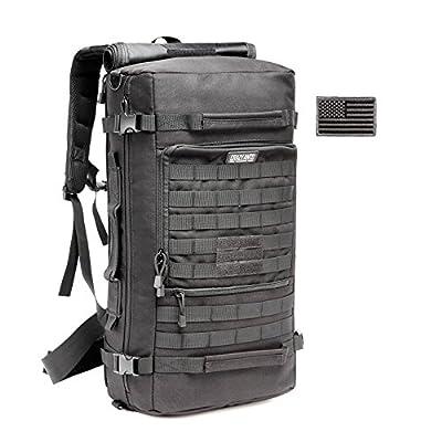 CRAZY ANTS Military Tactical Backpack Hiking Camping Daypack Shoulder Laptop Bag Upgraded Version,Black 35L