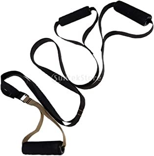 Baoblaze Gym Bundle Bodyweight Resistance Straps Trainer Sports Fitness Arm Chest Muscle Hanging Trainer Kit with Pocket Bag for Home Travel and Outdoor