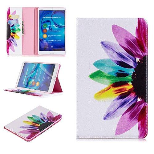 SATURCASE Huawei MediaPad M5 8 Hülle, Schönes Muster PU Lederhülle Ledertasche Flip Cover Brieftasche Hülle Tablet Tasche Hülle Schutzhülle Tablethülle für Huawei MediaPad M5 8 8.4