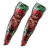 CHICAI 3 Pares de Mangas de Tatuajes temporales, Mangas de Brazo de protección Solar UV, Mangas de enfriamiento por compresión, for Fiesta Unisex Hombres Frescos Mujeres (Color : B)