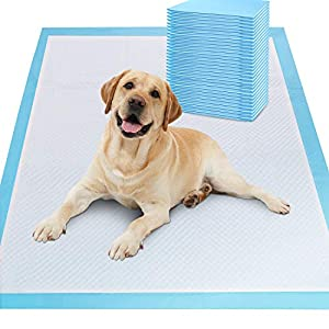 Gimars XL 28″x34″ Thicker Heavy Absorbency Pet Training Puppy Pee Pads – Extra Large Disposable Polymer Quick Dry No Leaking Pee Pads for Dogs, Cats, Rabbits and Other House Training Pets