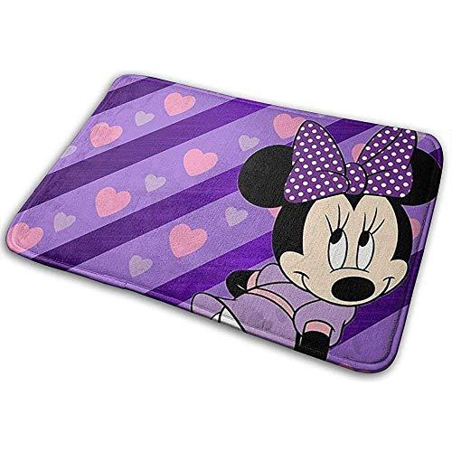 Liumt Welkom deurmat Minnie Purple Love Indoor Outdoor ingang tapijt voetmatten schoenkrabber 40cm x 60cm