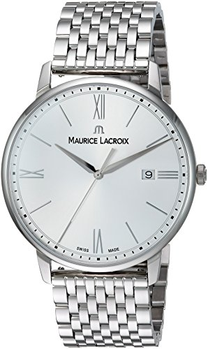 Maurice Lacroix Herren analog Swiss Quartz Uhr mit Edelstahl Armband EL1118-SS002-110-2