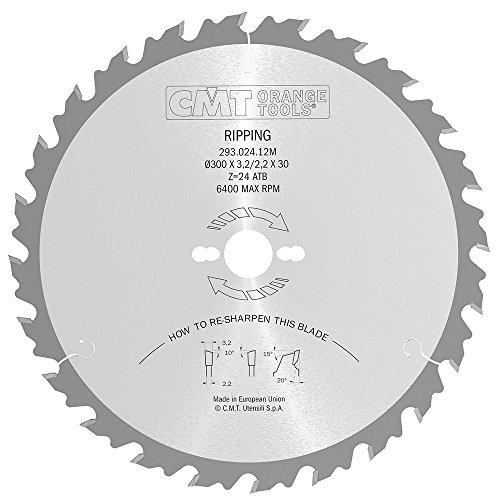 CMT Orange Tools 293.024.12M - Sierra circular 300x3.2x30 z 24 atb 20 grados
