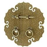 YXYY Aldaba de Cobre Macizo, Vintage rústico, Duradero, Resistente DoorKnocker, manija de Muebles de Estilo Chino Antiguo, Ideal para Armario, Puerta de Entrada