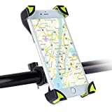Soporte Móvil Bicicleta Montaña, SKYEE Ultra Estable 4 Esquinas Cerradas Silicona Antideslizante Universal para Manillar de la Bici MTB para iPhone 8, Huawei p20 y otros Smartphone - Negro/Verde