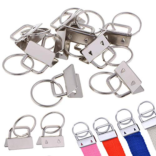 Nuluxi Schlüsselband Rohlinge 25mm Klemmschließeanhänger mit Schlüsselring Verschlüsse Schlüsselanhänger Lanyard Langlebig und Schön Schmuckzubehör zur Herstellung von Schlüsselbändern DIY (30 Stück)