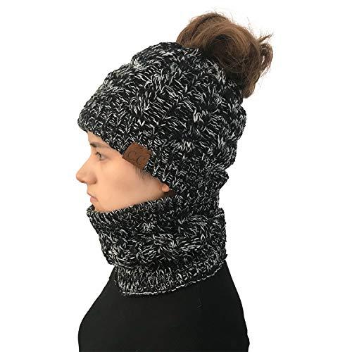 Yixda Packs bonnet, écharpe et gants femme