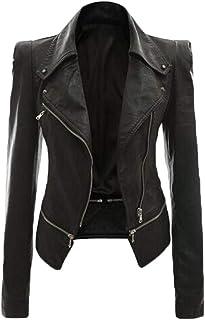 Amazon.it: giacca ecopelle XL Donna: Abbigliamento