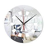 KDMB Reloj de Pared 3D Acrílico Creativo Reloj de Pared Dardos Objetivo Reloj de Pared Decorativo Reloj de Pared con Espejo