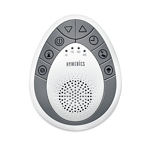 White Noise Sound Machine   Portable Sleep Therapy for Home, Office, Baby & Travel   4 Relaxing & Soothing Nature Sounds, Battery Operated, Auto-Off Timer   HoMedics