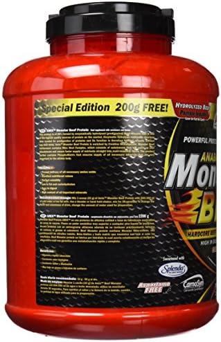 Amix - Proteína de Ternera, Monster Beef Protein, Favorece el Anabolismo Muscular, Rápida y Total Absorción, Baja en Hidratos de Carbono y Grasas, ...