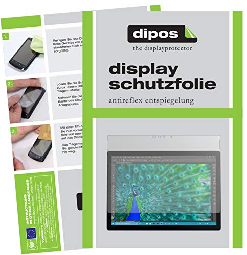dipos I 2X Schutzfolie matt kompatibel mit Microsoft Surface Book Folie Bildschirmschutzfolie