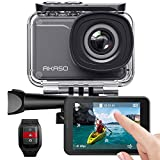 AKASO Action Cam Native 4K 20MP WiFi,Touch Screen,EIS Sommergibile...