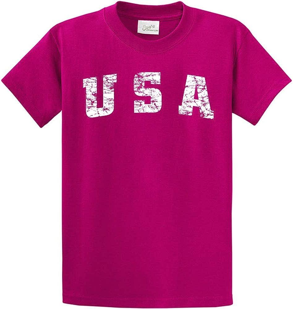 Joe's USA -Tall Vintage USA Logo Tee T-Shirts in Size Large Tall - LT