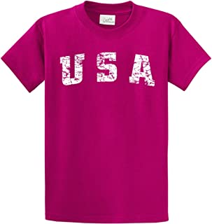 Vintage USA Logo Tee Tee's in 42 Colors and Regular, Big and Tall Sizes