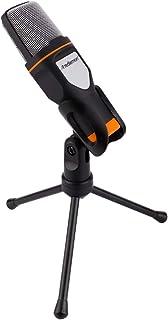 Redlemon Micrófono Condensador Semiprofesional con Tripié, Conector Universal Auxiliar Plug 3.5mm, Aislamiento de Ruido, p...