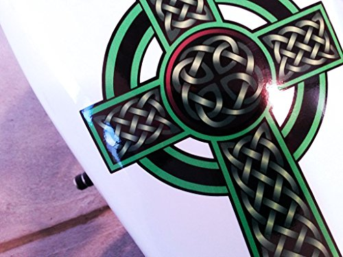 East Coast Vinyl Werkz Celtic Cross Decals - 5 pc Tank & Fender Decal Set for Harley Davidson Sportsters, Triumph, BSA & Other Motorcycles