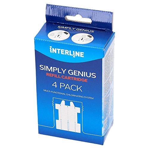 Nachfüllpack für Sicherheits Chlor Dosierschwimmer I Pool Wasser Kindersicher Chloren I für Simply Genius 4er Pack I geeignet für empfindliche Haut
