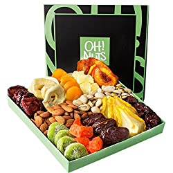 Vegan gift basket of fruits and nuts