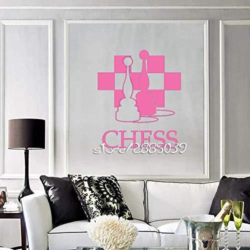 Chess Piece Club Schachbrett Wandaufkleber Ungiftige Pvc Wandtattoo Wallpaper Ankünfte Wandbild S 5 57X66Cm
