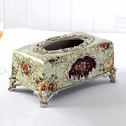 Tissue Box HOME Serviette Box Tablett Pump Luxus europäischen Harz Ornament Retro American Pastoral Pumppapierkasten (design : 5)