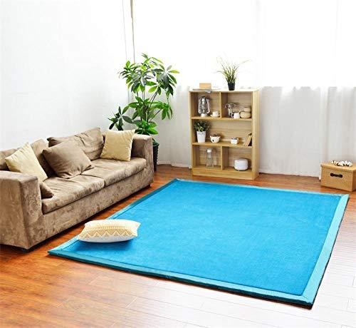 OHHCO Alfombra de refrigeración para sala de estar, dormitorio, ventana, terciopelo coral, espuma viscoelástica, color azul claro, 200 x 260 cm, para sala de estar (tamaño: 190 x 280 cm)