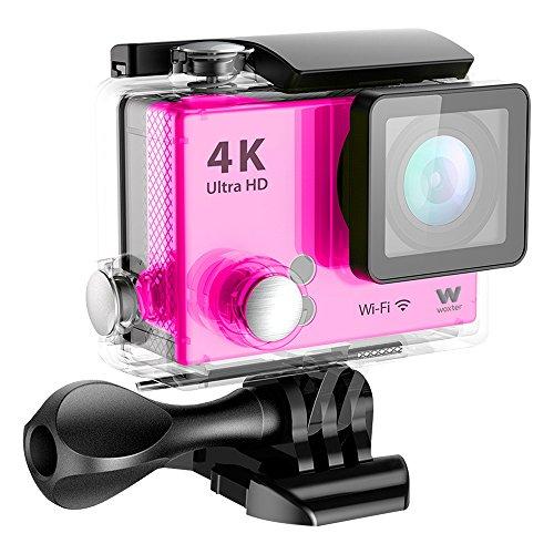 Woxter sportcam 4K - Cámara Deportiva Digital Sumergible + Accesorios. Rosa