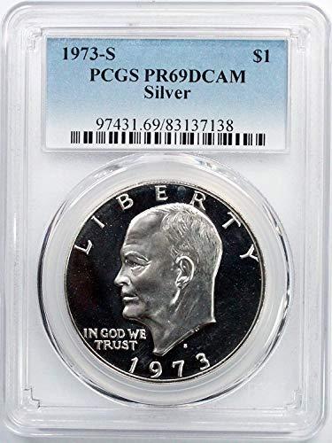 1973 S Silver Eisenhower Ike Dollar $1 PR69DCAM PCGS