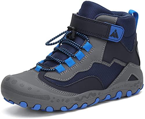 Mishansha Trekkingschuhe Kinder Wanderschuhe Jungen Outdoorschuhe Hiking Kinderschuhe Bergschuhe Stil: 2 Blau Gr.27*