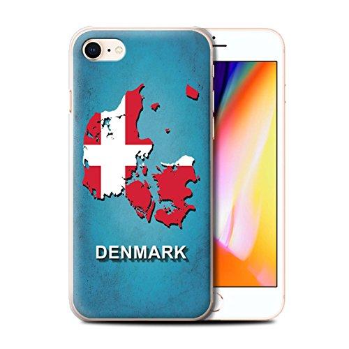 Telefoonhoesje voor Apple iPhone SE 2020 Vlag Nations Denemarken/Deens Ontwerp Transparant Helder Ultra Slim Dun Hard Back Cover