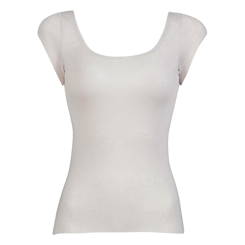 (ワコール)Wacoal スゴ衣 天然素材プラス すっきり、ひびきにくい 天綿混 シンプルタイプ フレンチ袖 半袖