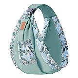 Bozaap Sling Baby Carrier Wrap, Newbor Baby Carrier Portátil de algodón Suave Sling Baby Hamaca Infantil para recién Nacidos y niños pequeños