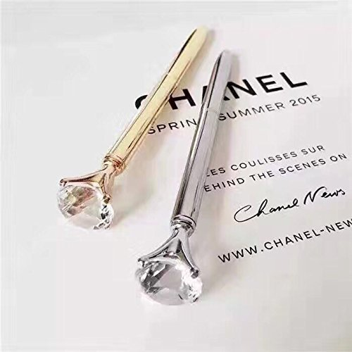 TISHAA Bling Diamond Crystal Crown Scepter Metal Ballpoint Pen, Silver