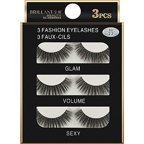 jkhhi Cils,Faux Cils Maquillage Main ÉPais False Eyelashes Outils CosméTiques, RéUtilisable Pour Le Faux-Cils(3 Paires)