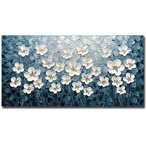 V-inspire Art, 24x48 inch Contemporary Abstract Oil Paintings On Canvas Painting Acrylic Art Wall Paintings Handmade 3D Painting Home Decorations Landscape Canvas Wall Art
