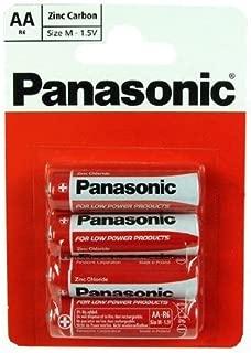 Panasonic- Aa Pack Of 4 Zinc Carbon Batteries