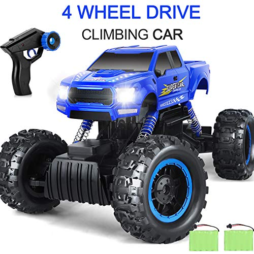 AOKESI 1:12 RC Cars Monster Truck 4WD Dual Motors Rechargeable Off Road Remote Control Truck Rock Crawler Car RC Hobby Truck Gifts for Boys,Girls,Kids/Adults