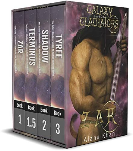 Galaxy Gladiators Alien Abduction Romance Series Box Set Books 1 1 5 2 and 3 Zar Terminus Shadow product image