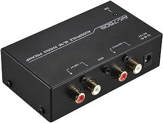 KLOP256 Preamplificador Fono Volumen Salida EDA Preamplificador portátil Ajustable Bajo Ruido con Controles Nivel Tocadisc...