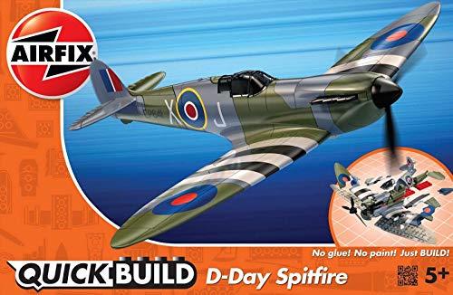 Airfix J6045 QUICKBUILD D-Day Spitfire Modellbausatz, Mehrfarbig