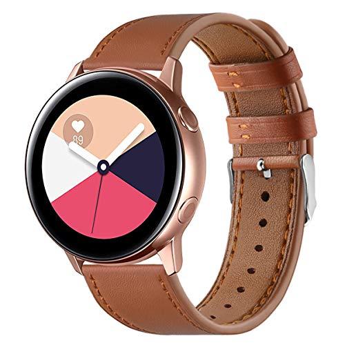 XZZTX 20 mm de Rechange en Cuir Bandes Watch avec Fermoir en Acier Inoxydable Compatible avec Galaxy Montre Actif/Galaxy Montre 42mm / Garmin Vivomove HR Montre Smart Watch