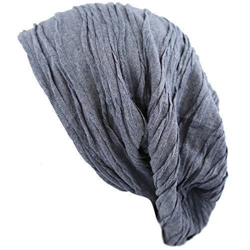 The Hat Depot H2800 Premium Quality Baggy Wrinkled Slouchy Fleece Lining Beanie Hat (1. 2800 - Blue)