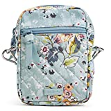 Vera Bradley Cotton Small Convertible Crossbody Purse with RFID Protection, Floating Garden